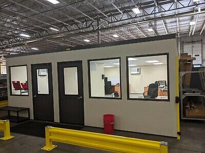 Modular In Plant Office - 20 X 28 X 8 A-wall 300 Building System 2 Rooms