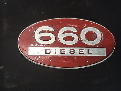 International Harvester Farmall 660 Diesel Aluminum Side Emblem Ih Tractor