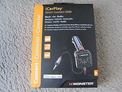 Monster iCarPlay Direct Connect 2000, Charge & Control Your iPod, iPhone, iPad