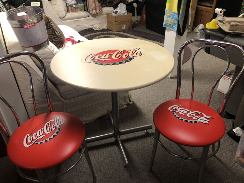 Vintage Coca-Cola Table And 2 Chairs