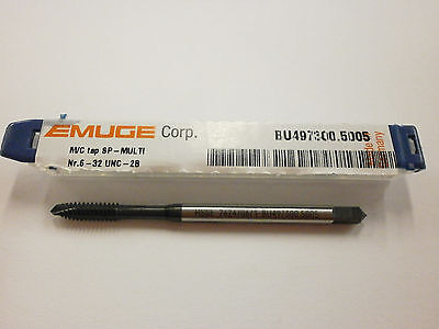 Emuge 6-32 Spiral Point Multi-tap 2b3b High Performance Germany Bu4973005005