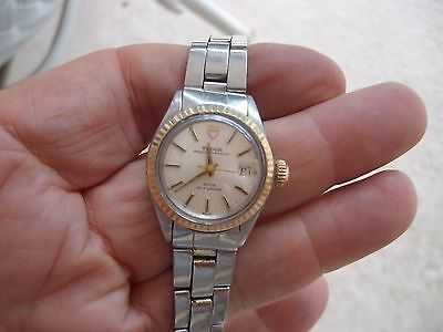 ROLEX AUTO TUDOR PRINCE OYSTER DAY/DATE WITH 18K FLUTED BEZEL AND 18K CROWN