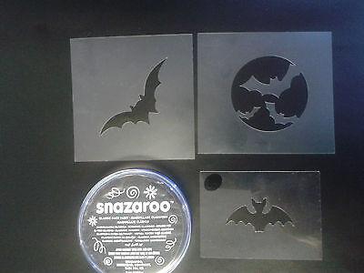 Bat Schminken Set einschließlich Farbe und Schablonen Halloween scary Fledermäus ()