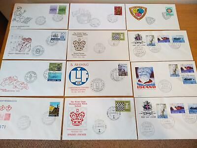 Iceland + Faroe Islands  50 First Day Covers All Different... Superb A+A+A+