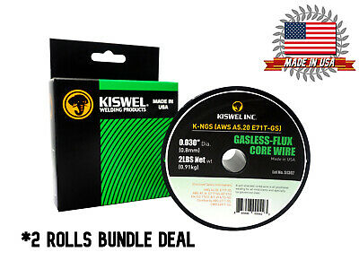 Made In Usa 2 Rolls E71t-gs .030 In. Dia 2lb. Gasless-flux Core Wire Welding