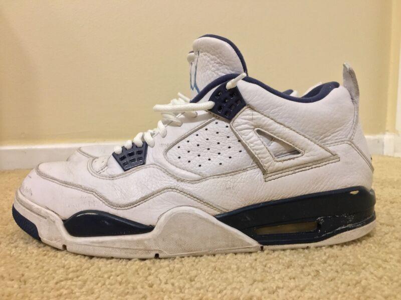 save off 05c3b 34103 Nike Air Jordan retro 4 IV Columbia Blue  314254 107 , White Blue