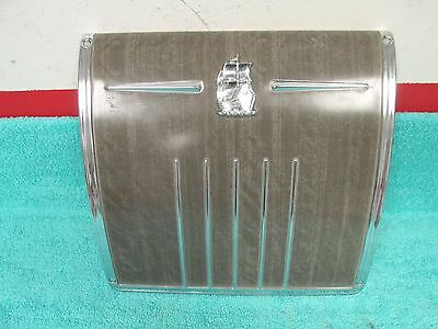 1952 PLYMOUTH  DASH RADIO DELETE PLATE WITH EMBLEM  NOS MOPAR 217