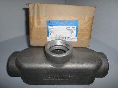 New Cooper Crouse Hinds Tb69 2 Aluminum T Conduit Outlet Body Tb-69 Condulet