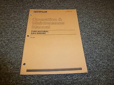 Caterpillar Cat 3306 Natural Gas Engine Owner Operator Maintenance Manual 7y