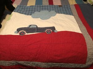 Boys  Bedding Set- Trucks - Quilted