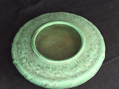 Antique Teco Pottery Matte Green Arts & Crafts Bowl #136 Fritz Albert Design