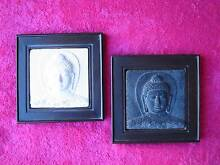 BRAND NEW PAIR OF FRAMED STONE BUDDHA HEADS Kingsley Joondalup Area Preview
