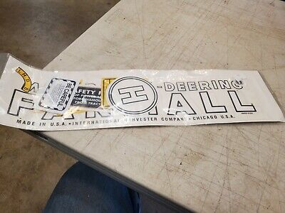 Farmall H Decal Set 939-1944 Mccormick-deering Farmall Licensed By Case