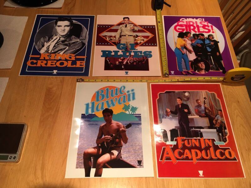 ELVIS Movie Posters - Five (5) Posters all for one money ! Nice estate find!