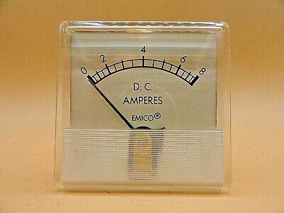 Analog Emico Panel Meter Dc Ammeter 0 - 8 Amps Lot Of 2