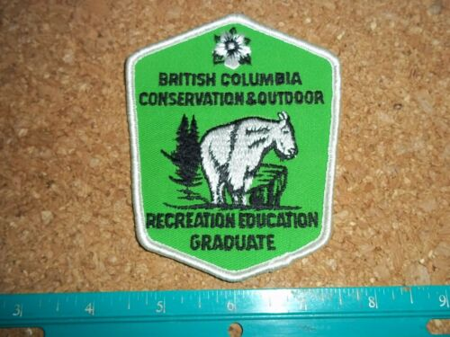 VINTAGE BRITISH COLUMBIA CONSERVATION + OUTDOOR EDUCATION GRADUATE PATCH