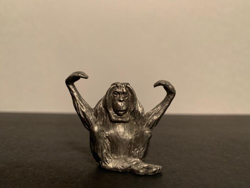 "Hudson Pewter ORANGUTAN Miniature 1.5"" Figurine Figure"