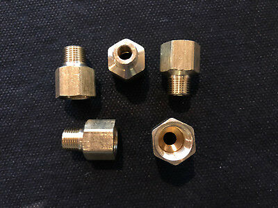 (5) Pipe Adapter Brass 1/8