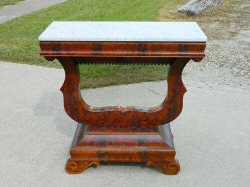Mahogany Marble Top Pier Table~~Petticoat Table circa 1840
