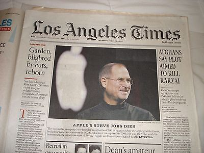 Steve Jobs Dies   Los Angeles Times  10 06 11