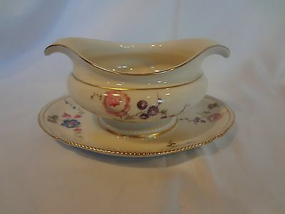 Castleton China USA - Sunnyvale - Gravy Boat with Attached Underplate
