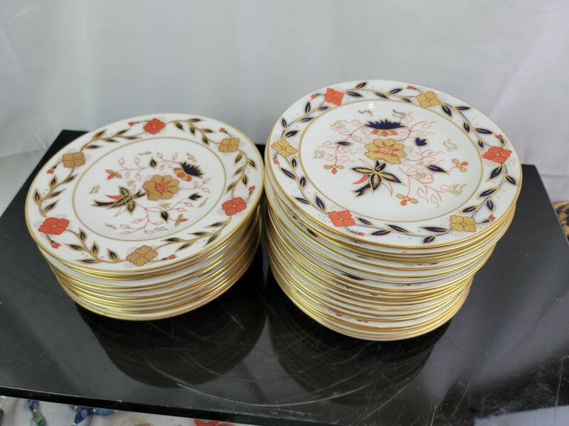 Set Of 32 Royal Crown Derby Asian Rose Bread Plates 6.25""