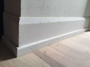 Brand new mdf baseboard and shoe moulding for sale.