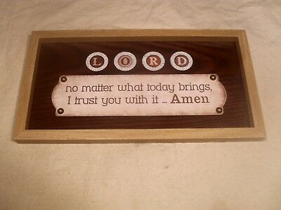 """Décor Framed Wall Plaque ~ """"LORD no matter what today brings, I trust you"""
