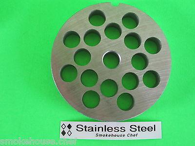 22 X 12 Meat Grinder Plate Stainless Steel Fits Hobart Tor-rey Lem More