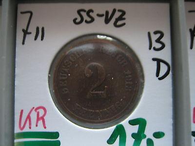 J 11   2 Pfennig  1913 D in SS-VZ