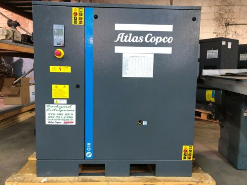 2019 Atlas Copco 25 hp G18 rotary air compressor