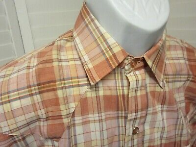 NEW Dead Stock Dee Cee Men Shirt L/ S  saw tooth Western Plaid USA Made 151/2 33