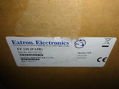 - Extron Full-Range Flat Field Speakers w/ 1' x 2' Low Profile Enclosure 42-120-03