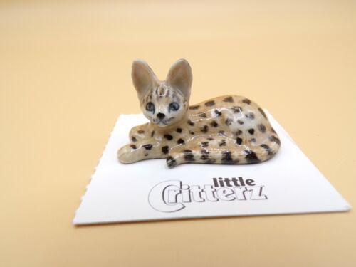 "Little Critterz African Serval ""Pounce"" Porcelain Figurine LC419"