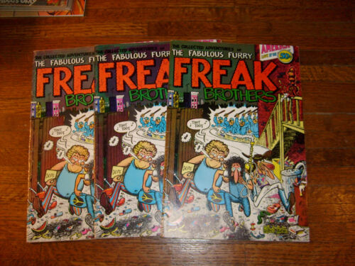 FREAK BROTHERS #1, 1, 1 & #2... vintage underground comics