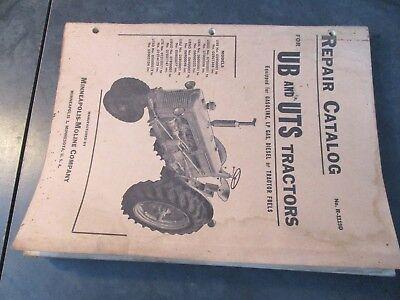 Minneapolis Moline Ub Uts Tractors Repair Catalog