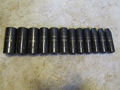 Craftsman 12pc Deep 6 Point SAE Inch Impact Socket Set 1/2 Drive 3/8 thru 1-1/16
