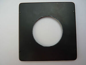 Crown-Speed-Graphic-lens-board-drilled-for-162mm-f4-5-Graflex-Optar-in-Rapax