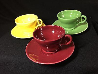 Vintage Franciscan El Patio Tea/Coffee Cups Multi Colors (3)