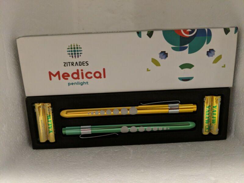 Zitrades Pen Light for Nurse Medical Penlight with Pupil Gauge for Nursing