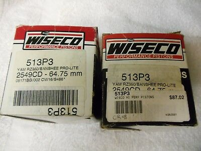YAMAHA BANSHEE RZ 350 WISECO TOP END REBUILD PISTONS 64.75 MM 1987-2006 for sale  Shipping to Canada