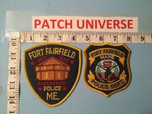 VINTAGE LOT OF 2 DIFF FORT FAIRFIELD MAINE  SHOULDER PATCHES   M040
