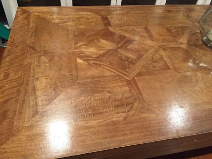 Large Wooden Dining Table and Benches