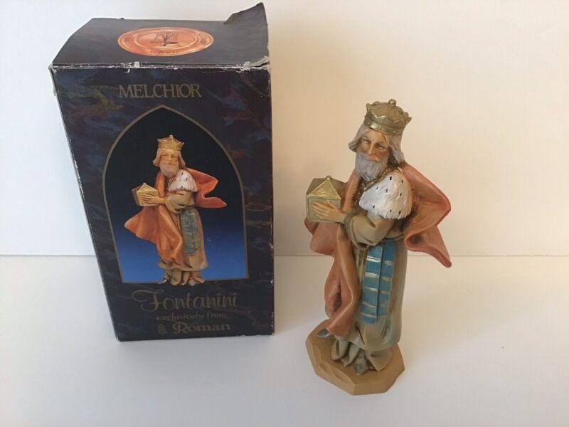 "1992 Fontanini Roman MELCHIOR Wiseman Figure Figurine Nativity Christmas 5"" Tall"
