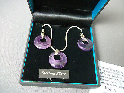 NIB Fusion 925 Earrings & Necklace - Celtic St. Justin - Sterling Silver - 31 cc