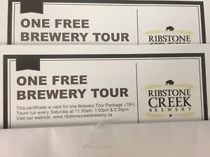 Ribstone Creek Craft Brewery Tour for Two!