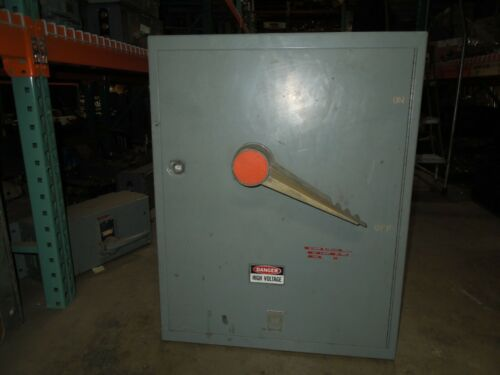 Fpe Qmqb8036vl 800a 3p 600v Single Fusible Switch Unit Used