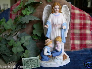 Home interiors homco denim days guardian angel figurine w Home interiors denim das