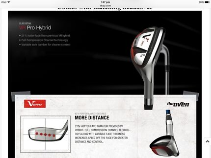Nike VR II pro #3 HYBRID 21* loft with head cover East Maitland Maitland Area Preview