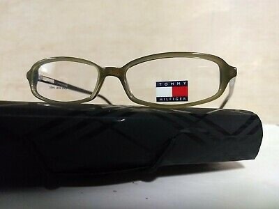 Tommy Hilfiger Glasses Frames TH3044 Green Plastic with Demo Lenses Vintage